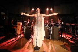 Jana Dekánková & Fats Jazz Band. Z ich vystúpenia v Sladkovského sále
